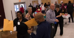 group of transportation department employees during Transportation Appreciation day.