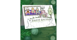 Student drawing for christmas card collection