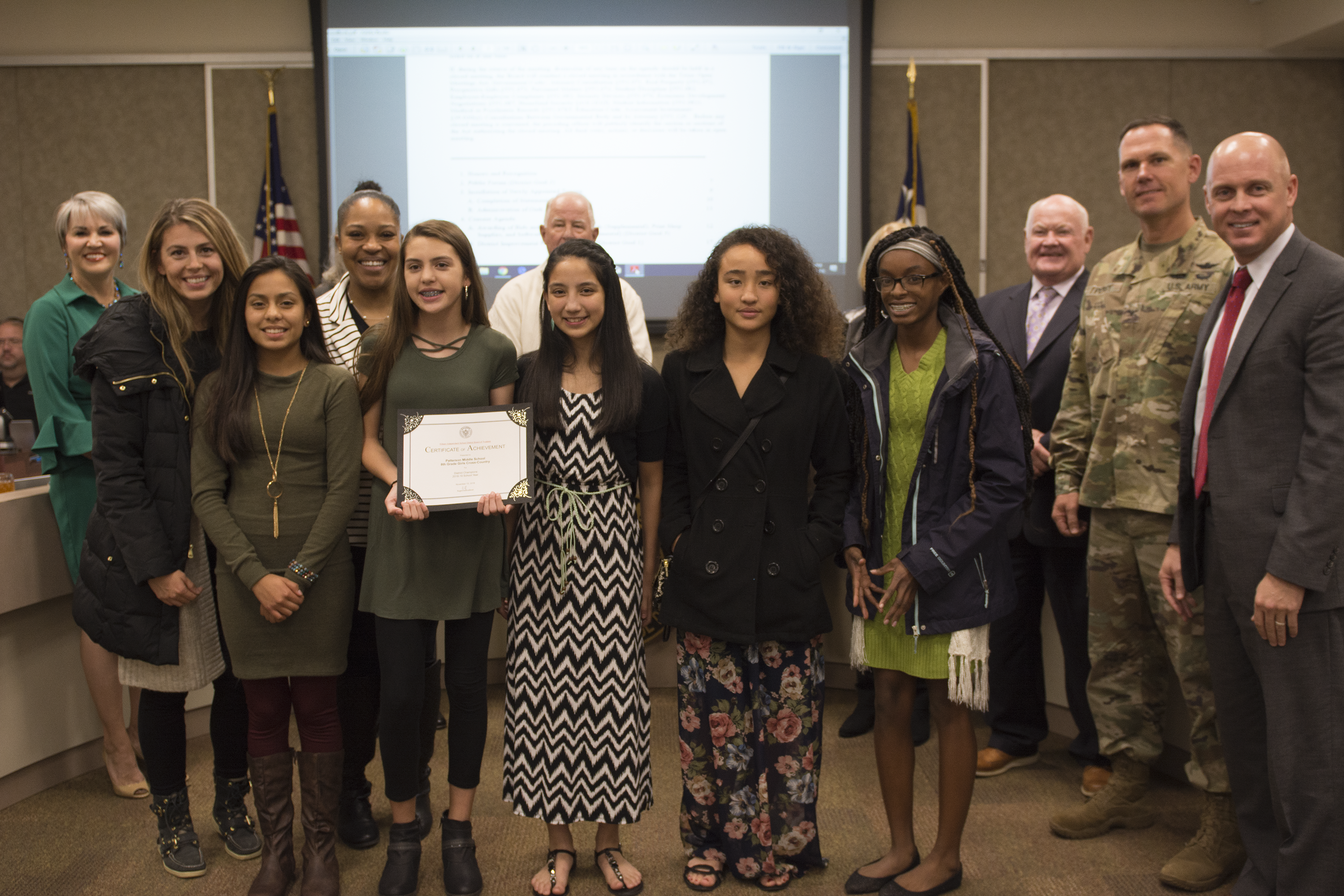 Kisd Board Honors November 2018
