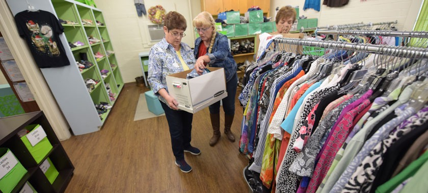 Volunteers maintain the KISD Clothes Closet