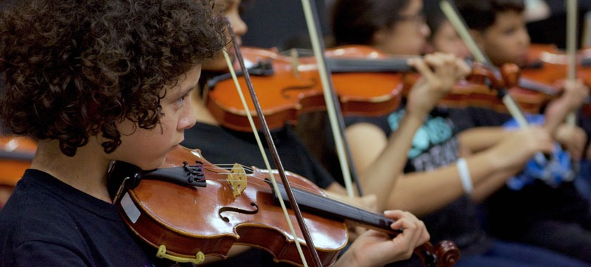KISD orchestras perform last May
