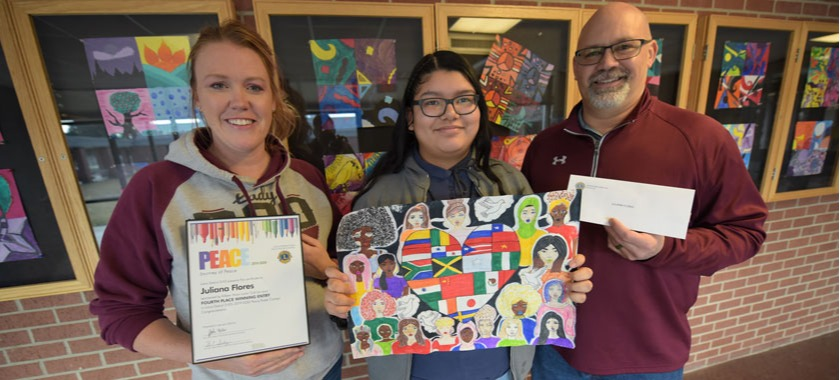 Drawing illustrates international peace