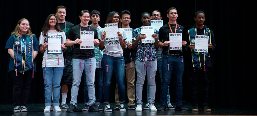 Ellison HS seniors enlisting in the armed forces