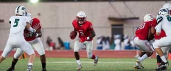The Harker Heights Knights football team takes on the Round Rock McNeil Mustangs.