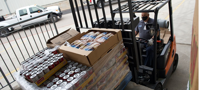 A woman's call brought pallets of food and supplies to town