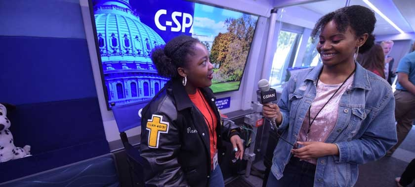 CSPAN Bus Visits Early College