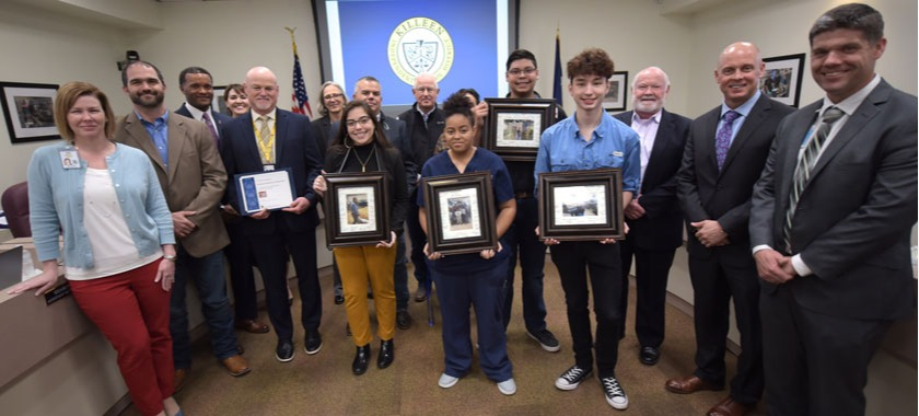 Career Center students thanked board members