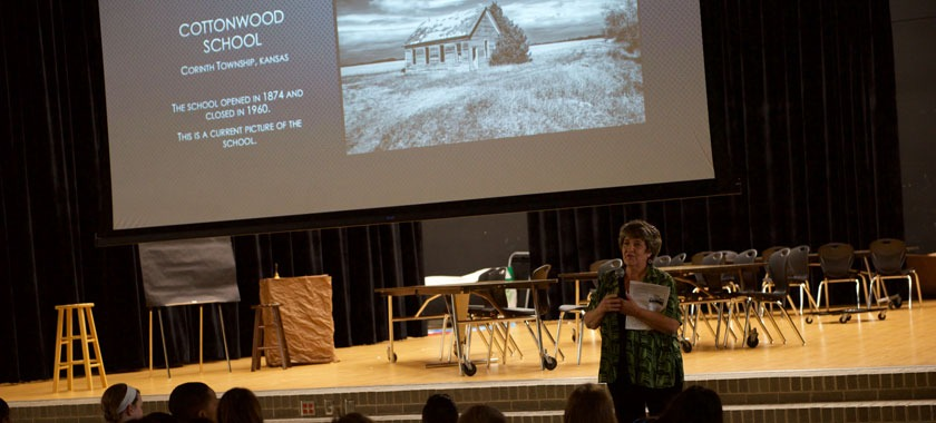 Smith STEM students learn about one-room schoolhouse education