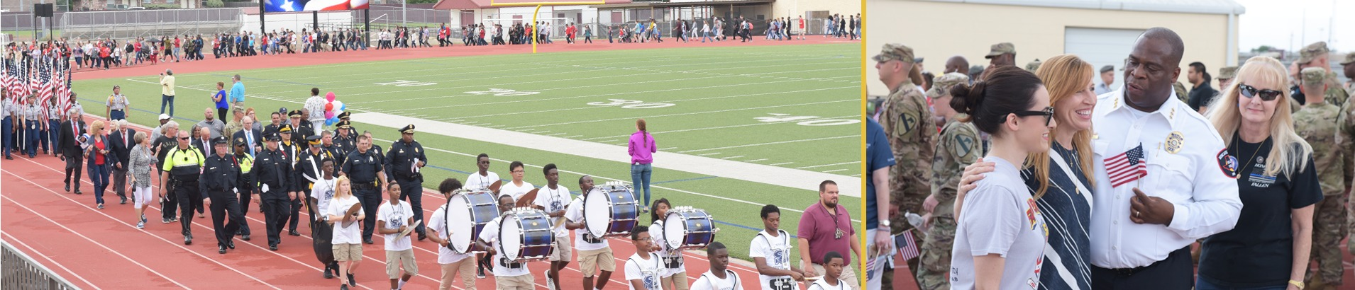 Community members during the 2018 Killeen ISD Freedom Walk hosted at Killeen High School, Leo Buckley Stadium.