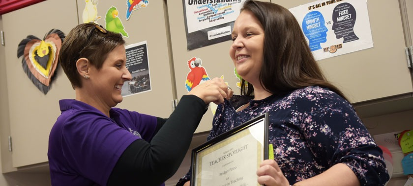 Early College teacher Bridget Petro honored