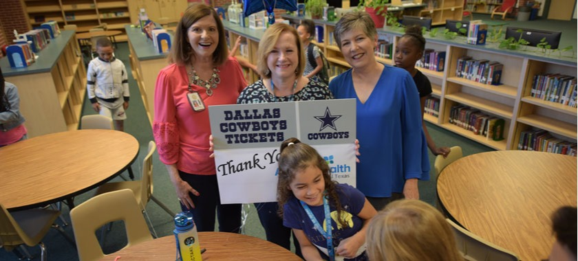 KISD Education Foundation awards Cowboys tickets