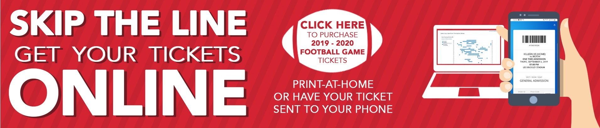 Purchase Football Tickets Online Now, Click Here!