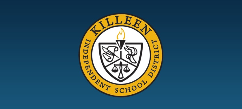 KISD logo with blue gradient background