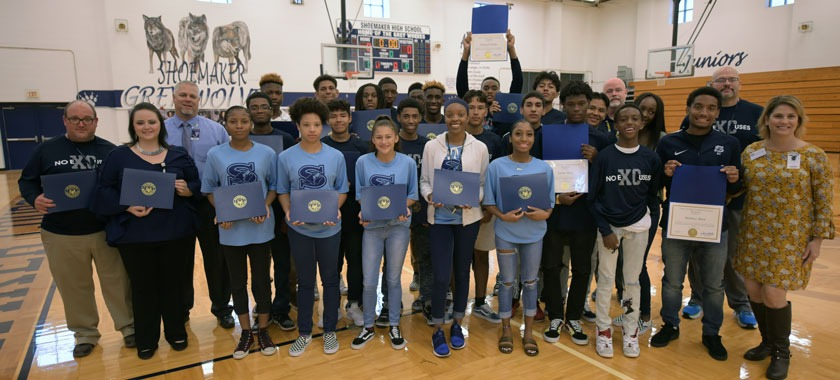 Shoemaker HS cross country team honored