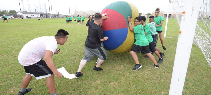 JROTC Organization Day push ball