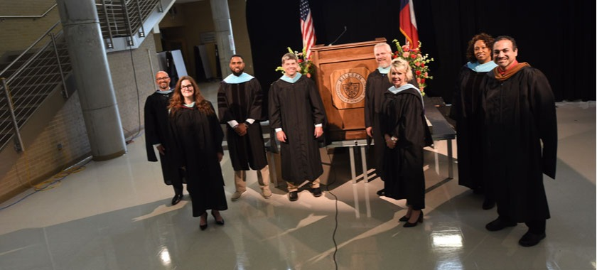 KISD high school principals record commencement messages.