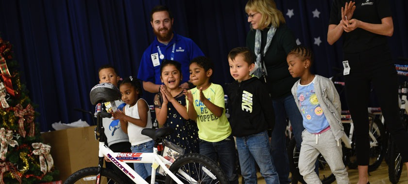 East Ward Elementary students receive bicycles