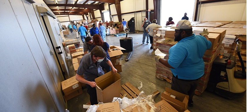 KISD Distribution Center packs and delivers goods for schools