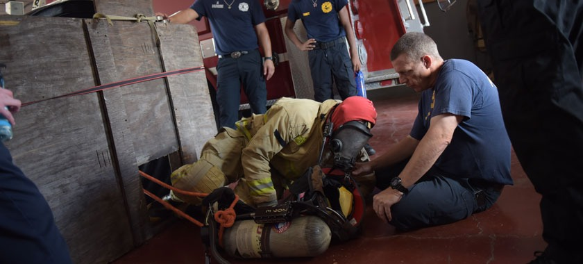 Killeen ISD firefighter cadets learn confined space escape