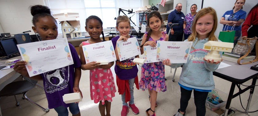 Second-graders design alongside high school students