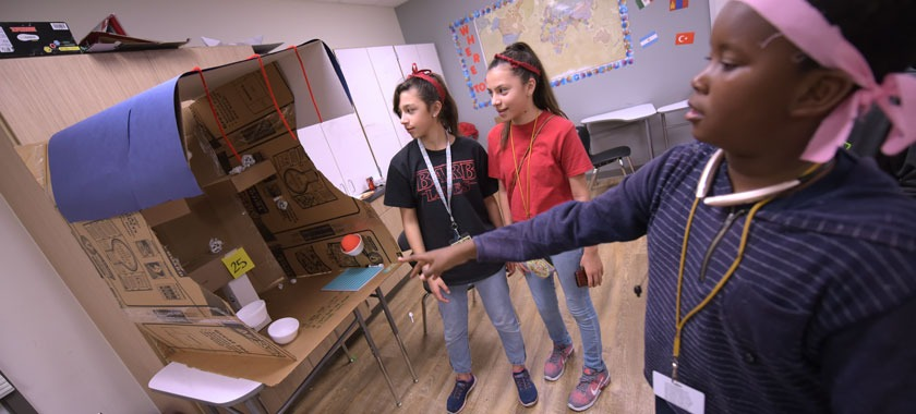 Smith MS students design cardboard games
