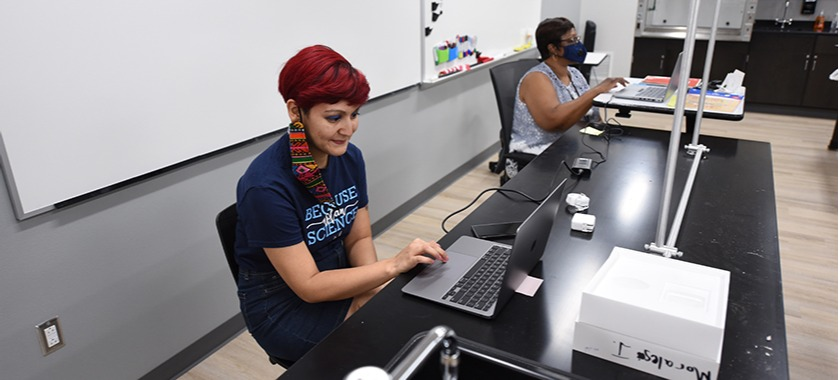 Teachers prepare lessons for virtual learning