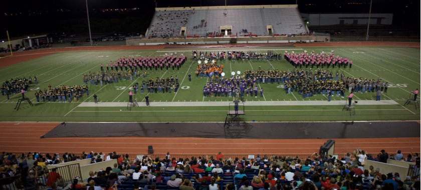 Middle school bands join HHHS in MSX finale