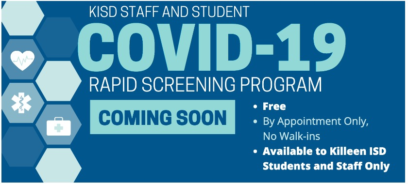 KISD to Offer Free COVID-19 Rapid Screening to Students and Employees