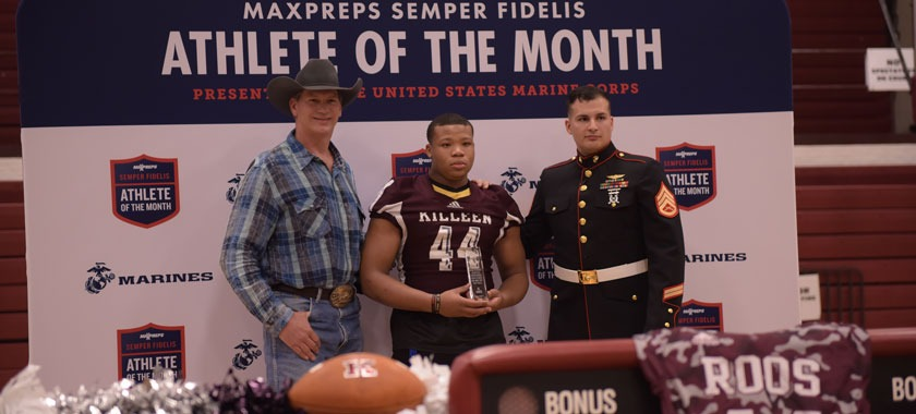 KHS junior receives Marine Corps Athlete Award