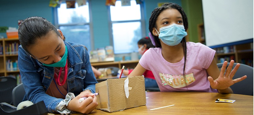 Cavazos fifth-graders make monster traps in literary STEM challenge.