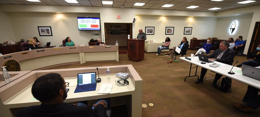 KISD Board of Trustees resumes in-person meeting.