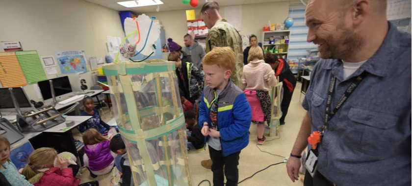 Clear Creek Elementary family science night