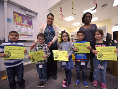 Pershing Park safety week character luncheon awards