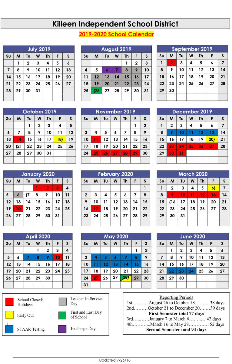Kisd Calendar 2019 Next School Year Calendar | Killeen ISD