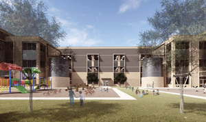 Rendering of the new East Ward West Ward Elementary Schools